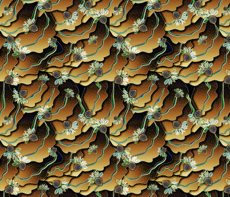 organic floral 1500 autumn berry fabric by glimmericks on Spoonflower - custom fabric