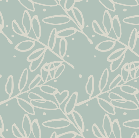 Delicate Foliage fabric by gsonge on Spoonflower - custom fabric