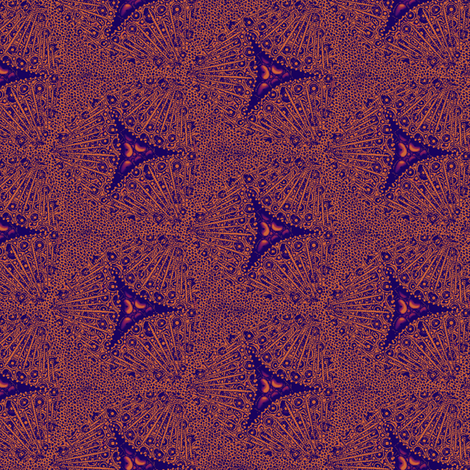 scales coral inkberries fabric by glimmericks on Spoonflower - custom fabric