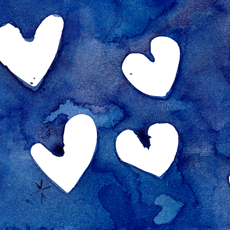 cestlaviv_white hearts fabric by cest_la_viv on Spoonflower - custom fabric