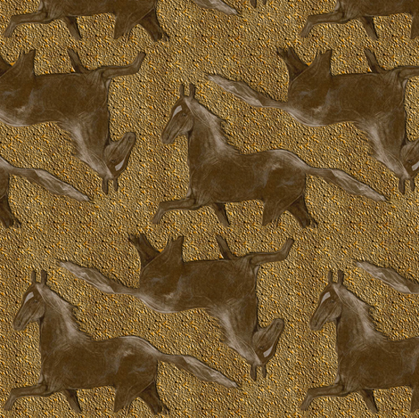 Sorrel Horse fabric by eclectic_house on Spoonflower - custom fabric