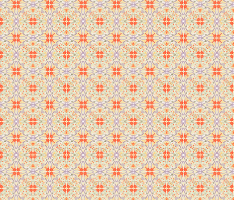 Coral cupcake bakery fabric by wren_leyland on Spoonflower - custom fabric