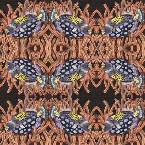 Handsome Fish 2 fabric by clotilda_warhammer on Spoonflower - custom fabric