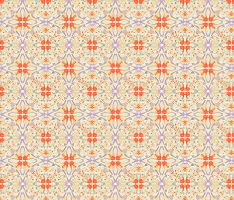 cupcake-bakery coral fabric by wren_leyland on Spoonflower - custom fabric