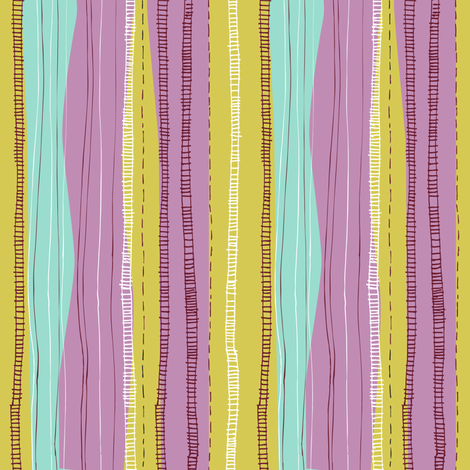 stripe_stems_for_flowers fabric by gsonge on Spoonflower - custom fabric