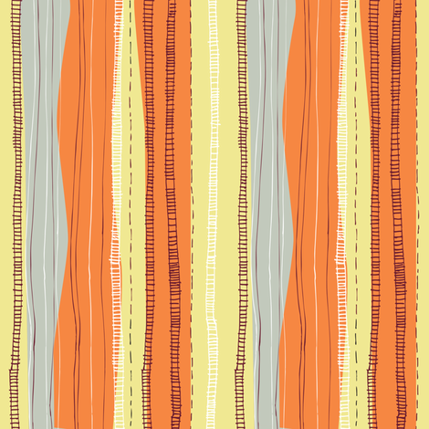 stripe_stems_for_flowers-2 fabric by gsonge on Spoonflower - custom fabric