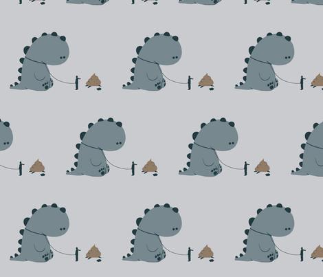 Bad Dinosaur! fabric by purpleclovecreative on Spoonflower - custom fabric