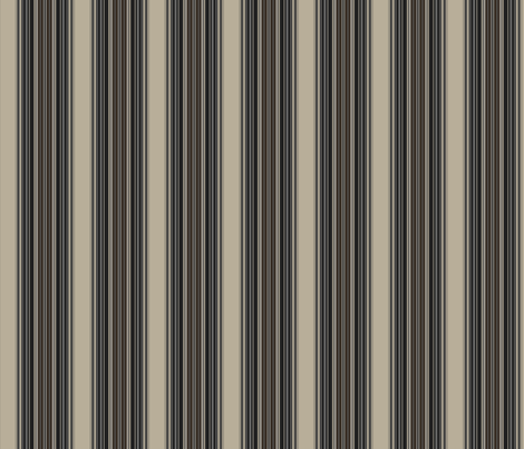 Broad Stripe in Beige, Gray, Taupe and Brown © Gingezel™ 2009 fabric by gingezel on Spoonflower - custom fabric