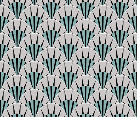 Deco fans rock  fabric by glanoramay on Spoonflower - custom fabric