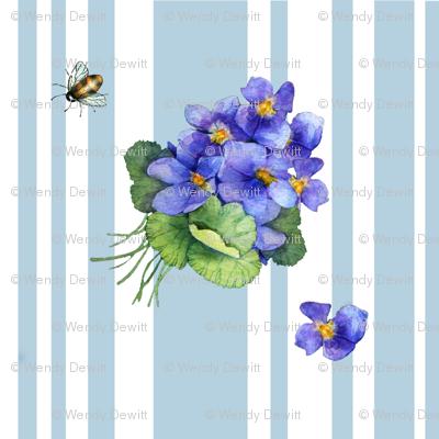violets variation on blue stripe