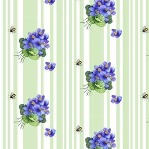 violets variation on green