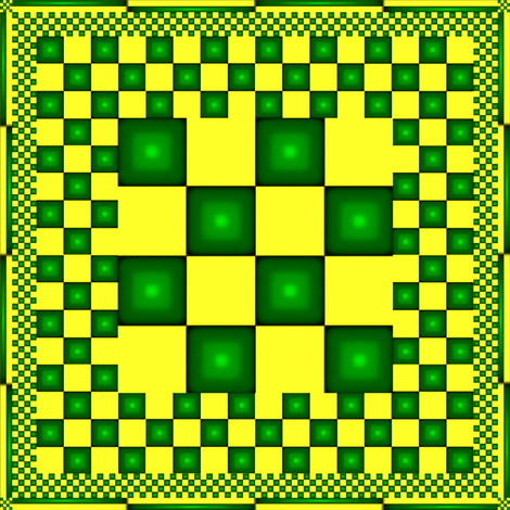 Green and Yellow Checkered Kerchief or Napkin fabric by pd_frasure on Spoonflower - custom fabric