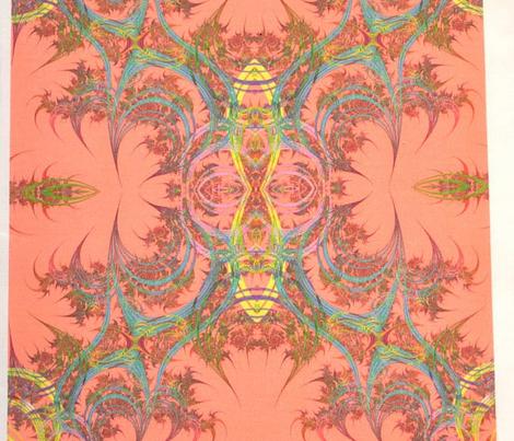Glittery Swirls on Peach