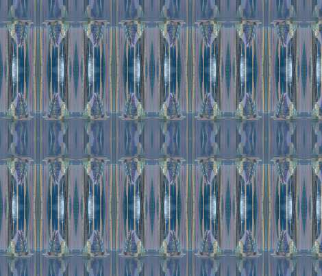 Tamara Alien Cityscape small © Gingezel™ 2012 fabric by gingezel on Spoonflower - custom fabric