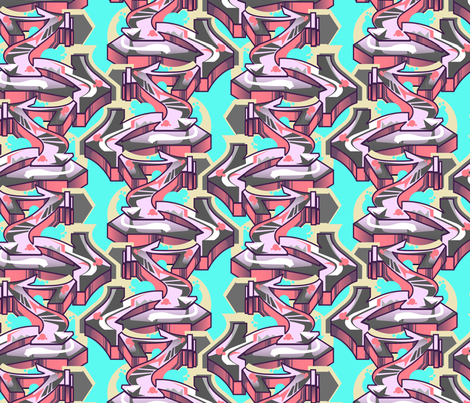 graffiti arrows fabric by jenr8 on Spoonflower - custom fabric