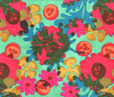 day blooms fabric by exb on Spoonflower - custom fabric