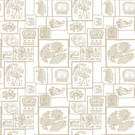 Mayan Motif fabric by gimlet on Spoonflower - custom fabric