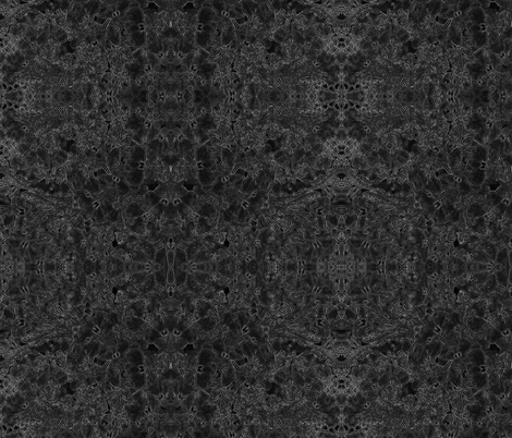 Lobelia Lace in Black and Gray fabric by fabracadabra on Spoonflower - custom fabric