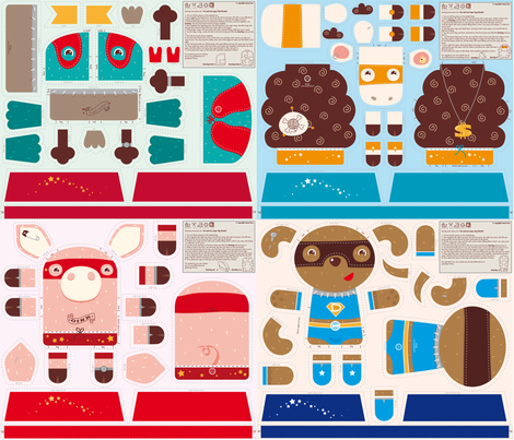 Incredible Super Heroes set fabric by verycherry on Spoonflower - custom fabric