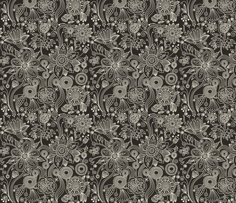 floral pattern  fabric by inbirdhouse on Spoonflower - custom fabric