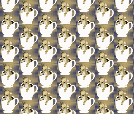 teacup_chihuahua fabric by dogdaze_ on Spoonflower - custom fabric