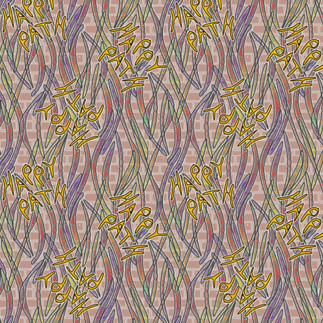 Happy Path Graffitti - soft fabric by glimmericks on Spoonflower - custom fabric