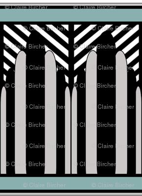 Deco fans rock border stripes