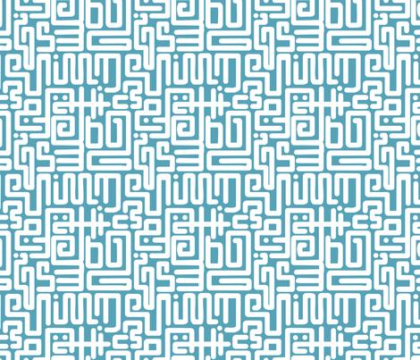 Blue Tribe fabric by candyjoyce on Spoonflower - custom fabric