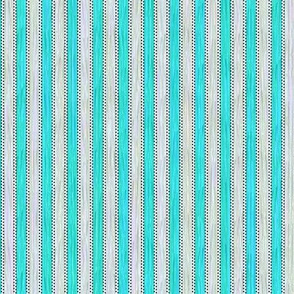Painterly Turquoise Stripe