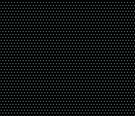 Deco fans rock polka stars on black fabric by glanoramay on Spoonflower - custom fabric