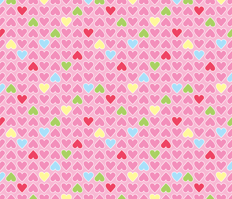 Party Hearts fabric by indescribble on Spoonflower - custom fabric