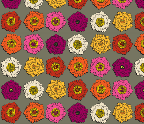 UrbanFloral fabric by ghennah on Spoonflower - custom fabric