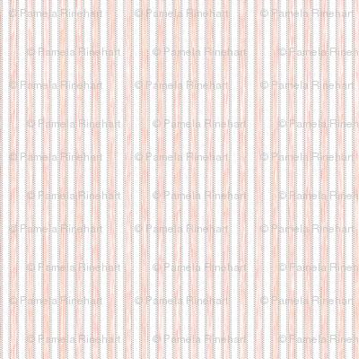 Painterly Fuzzy Peach Pink Stripe