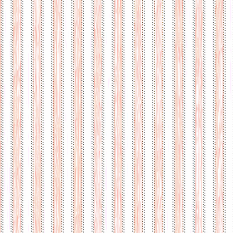 Painterly Fuzzy Peach Pink Stripe fabric by glimmericks on Spoonflower - custom fabric