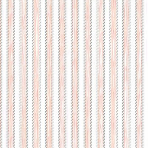 Painterly Fuzzy Peach Pink Stripe