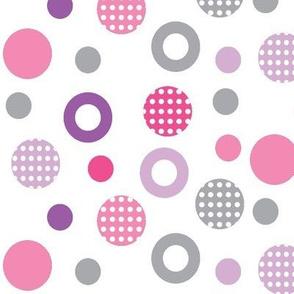 Polka dots Fish Pink collection