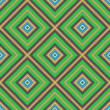 Vivid Green Diamonds fabric by eclectic_house on Spoonflower - custom fabric