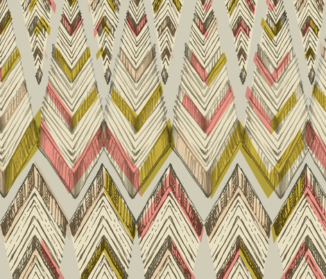 PYRAMID LINE_vintage fabric by pattern_state on Spoonflower - custom fabric