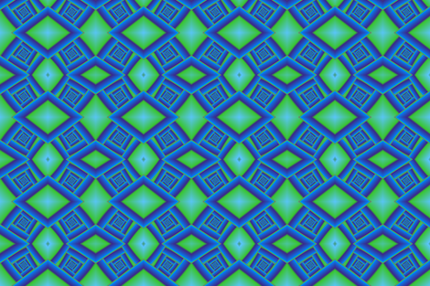 Bluegreen Spiral Staircase fabric by eclectic_house on Spoonflower - custom fabric