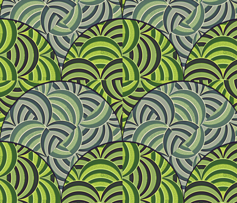 Juxtaposition - Watermelons fabric by glimmericks on Spoonflower - custom fabric