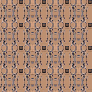 Intricate Blue Brown Pattern © Gingezel™ 2012