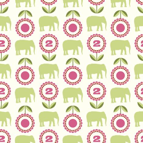 elflo_rosegreen fabric by lilliblomma on Spoonflower - custom fabric