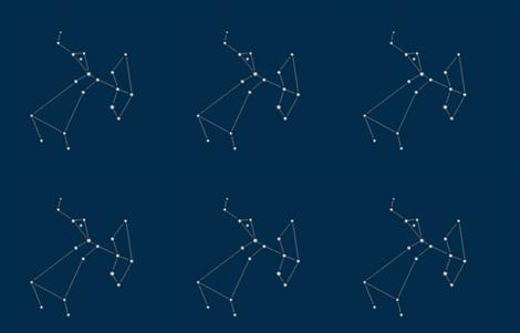 Sagittarius, the Archer (01) fabric by threebees on Spoonflower - custom fabric