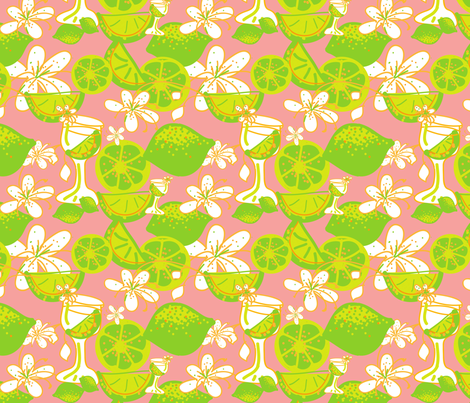 caipirinha party ©2012 Jill Bull fabric by palmrowprints on Spoonflower - custom fabric