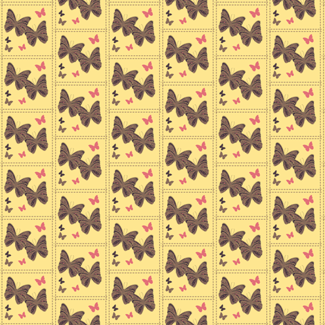 cream puff butterfly fabric by tinhearts on Spoonflower - custom fabric