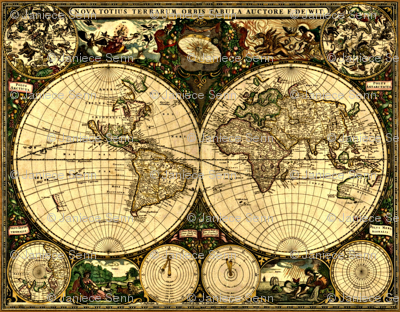 Old world map wallpaper whimzwhirled spoonflower old world map gumiabroncs Choice Image