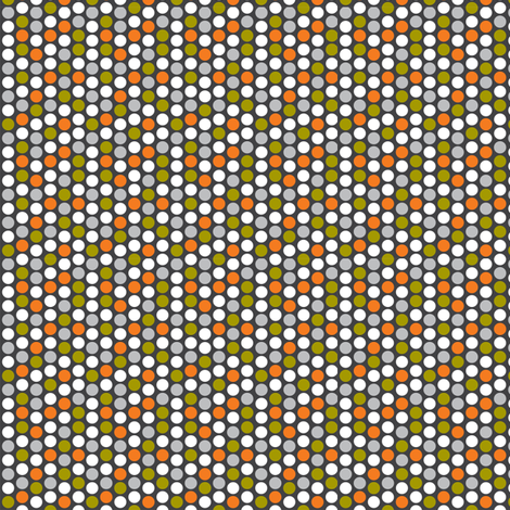 retro spot grey fabric by cjldesigns on Spoonflower - custom fabric