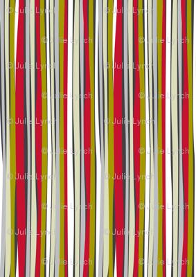 retro stripe red