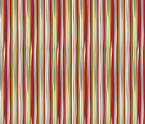 retro stripe red fabric by cjldesigns on Spoonflower - custom fabric