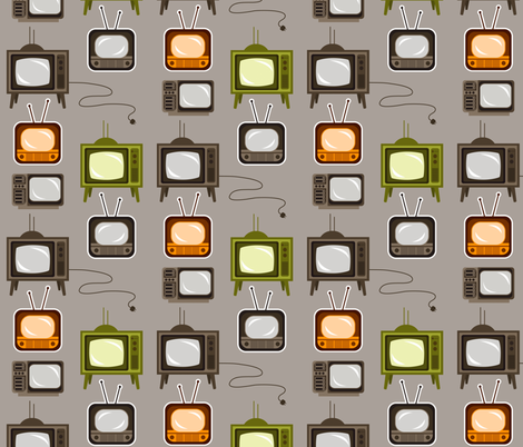 Timeworn TV's fabric by run_quiltgirl_run on Spoonflower - custom fabric